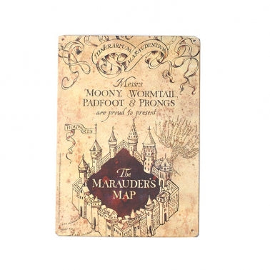 Marauder's Map small tin sign