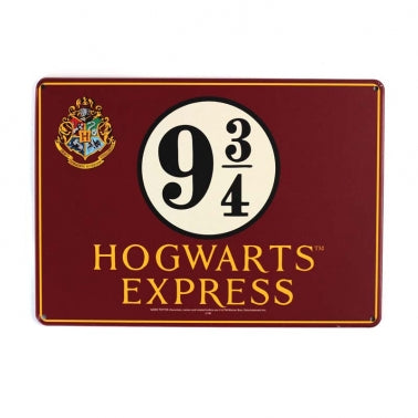Platform 9 3/4 small tin sign