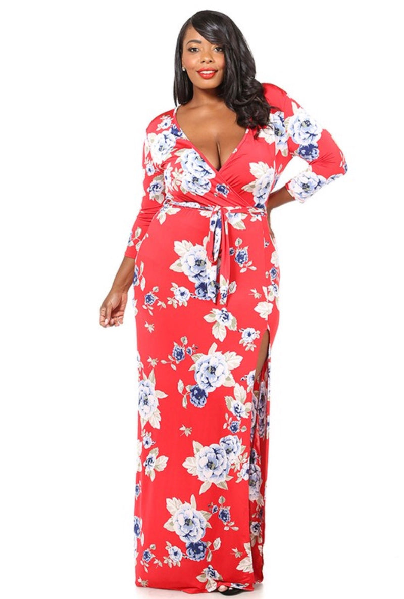 FLOWER BLOSSOM MAXI DRESS