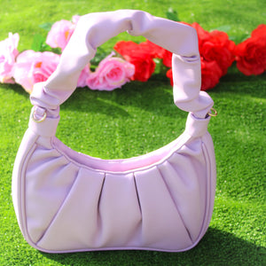 Beautified Runched Bag (Purple)