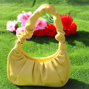 Beautified Runched Bag (Yellow)