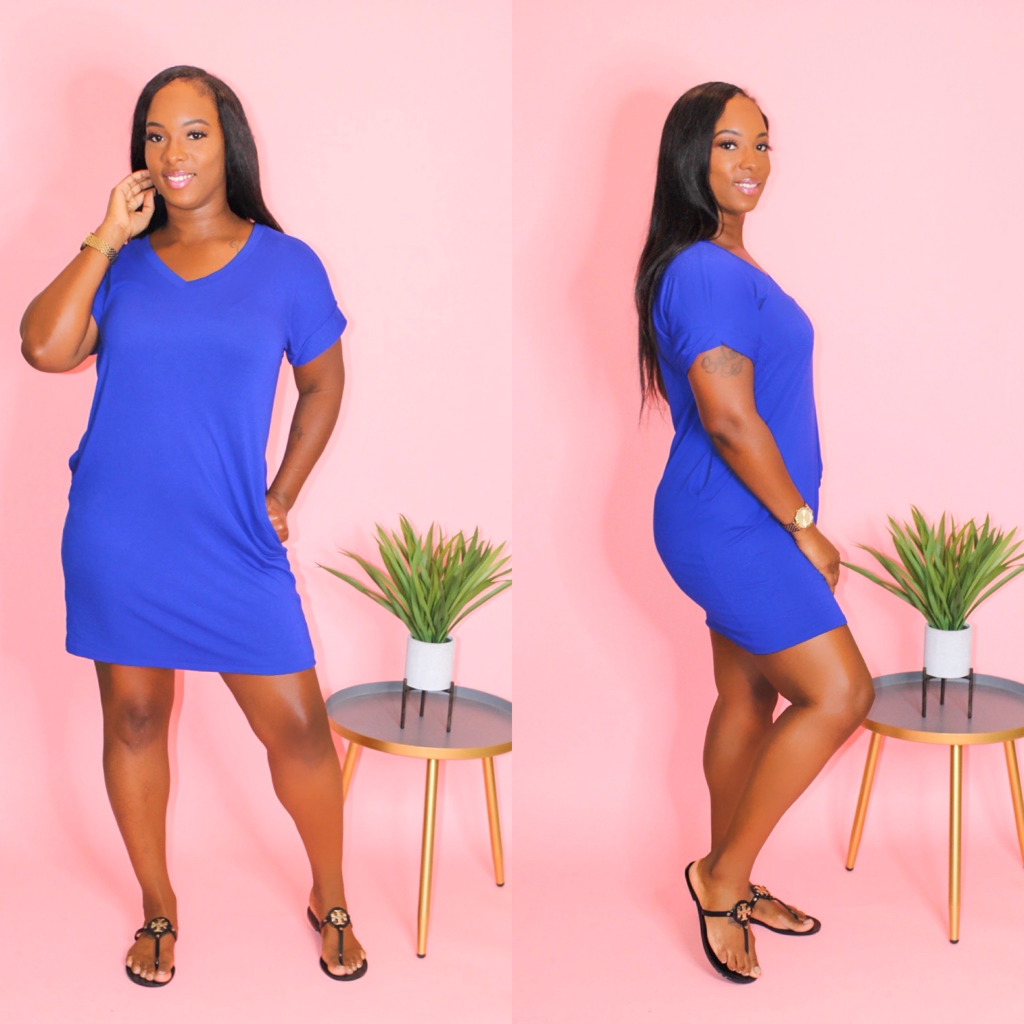 THE JASMINE DRESS (CURVY ROYAL)