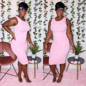 Kelly Midi Dress (Pink)