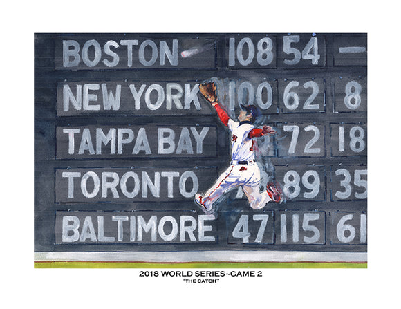 2018 World Series Game 2 - The Catch - Dodgers vs. Red Sox