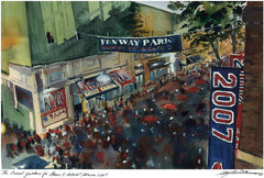 2007 World Series - The Crowd Gathers Outside Fenway