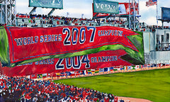2008 Opening Day: 2007 and 2004 Flags Unveiled