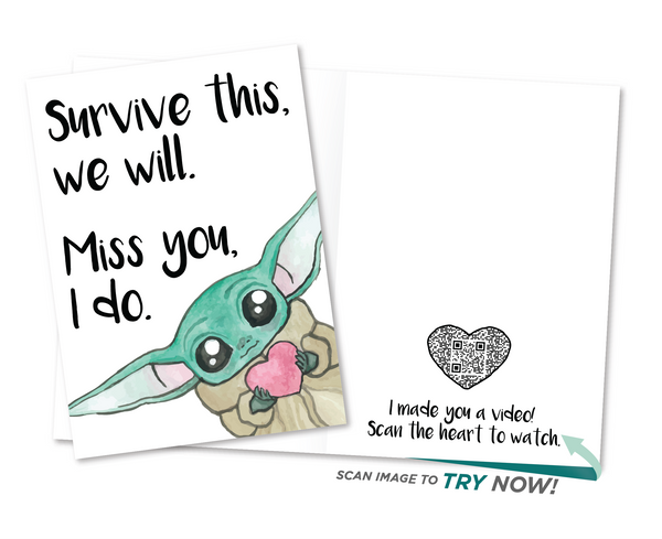 Baby Yoda Encouragement Card