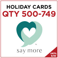 ZZZ Holiday Cards - QTY 500-749