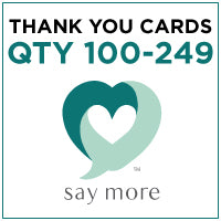 ZZZ Business Thank You Cards - QTY 100-249