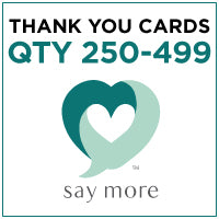 ZZZ Business Thank You Cards - QTY 250-499