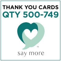 ZZZ Business Thank You Cards - QTY 500-749