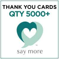 ZZZ Business Thank You Cards - QTY 5000+