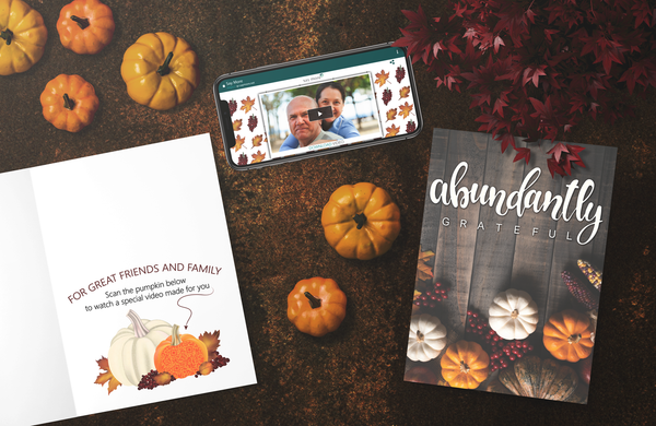 Abundantly Grateful Thanksgiving Card