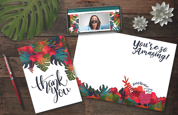 Amazing Tropical Thank You Card