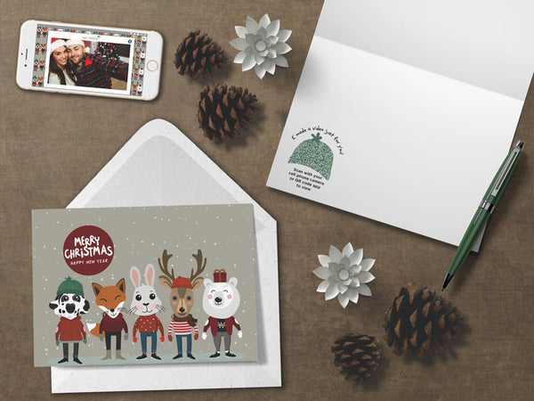 Animal Friends Christmas Card