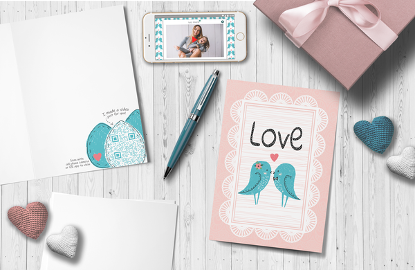 Birds of a Feather Love Card