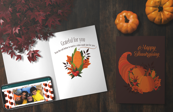 Cornucopia Thanksgiving Card