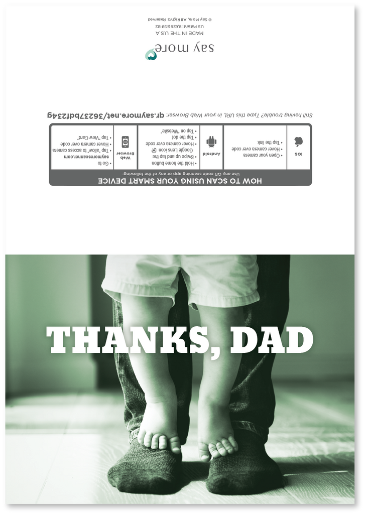 Own Two Feet Father's Day Card