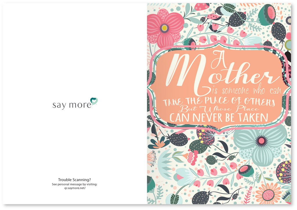 Mother's Day Irreplaceable Card