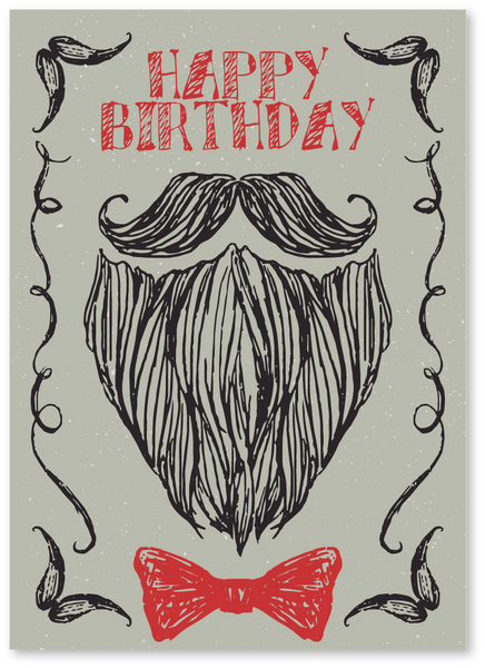 Bearded Birthday Card