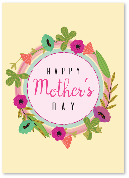 Happy Flowers Mother's Day Card