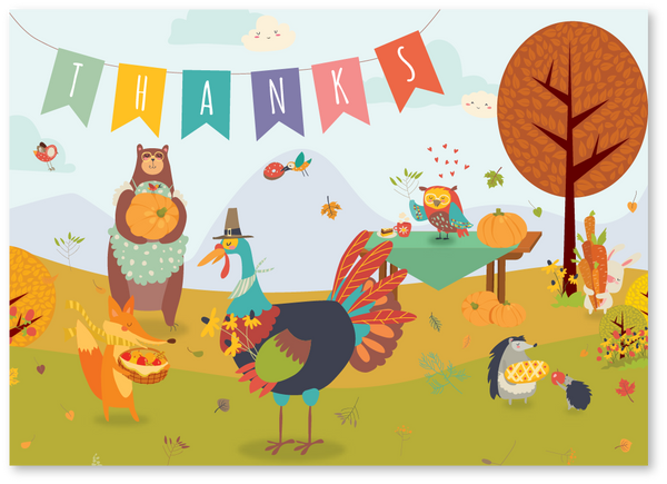 Feast With Friends Thanksgiving Card