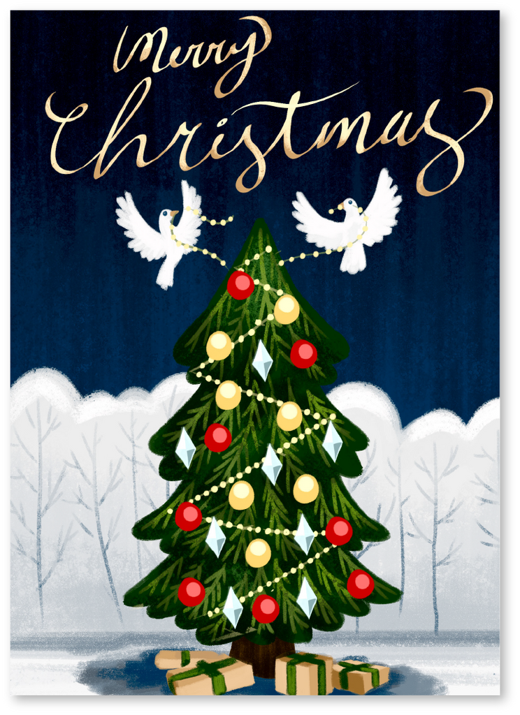 Turtle Doves Christmas Card - Check Out Our Video Christmas Cards ...