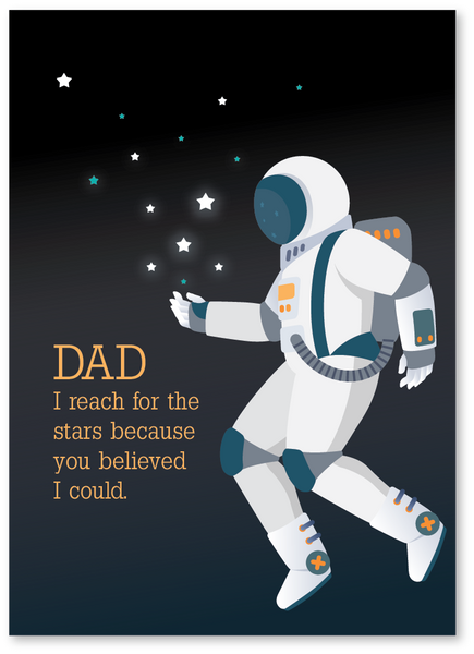 Reach For the Stars Father's Day Card