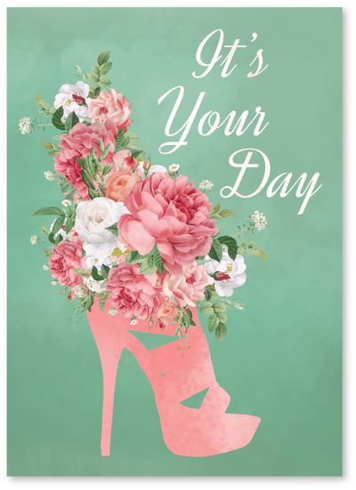 Heel Bouquet Mother's Day Card