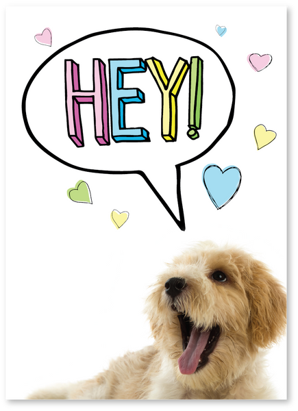 Hey Puppy Encouragement Card