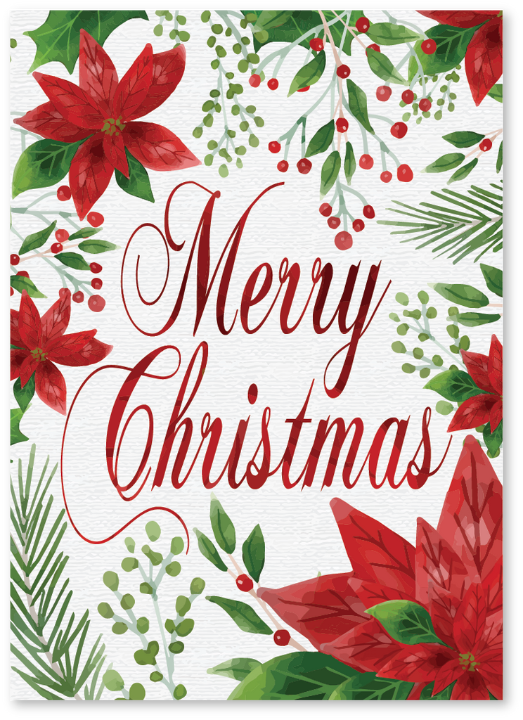 Poinsettia Christmas Card - Order Christmas Cards Today | Say More Cards