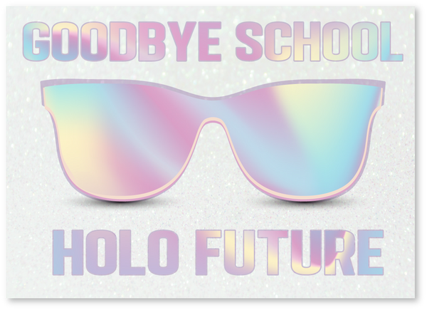 Holo Graduation Card