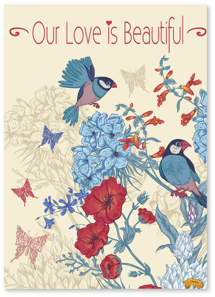 Birds & Butterflies Anniversary Card