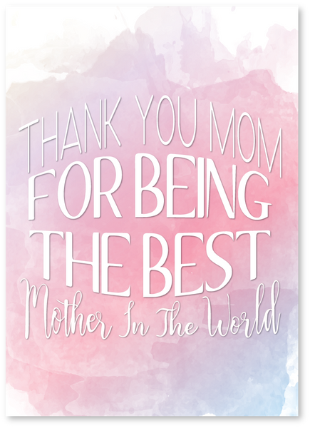 Best in the World Mother's Day Card