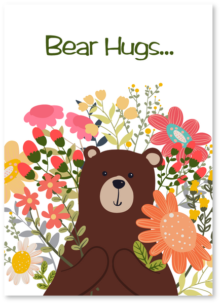 Bear Hugs Get Well Soon Card
