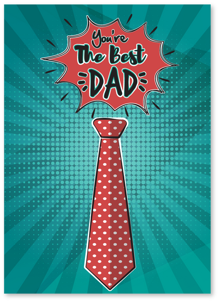 You're The Best Dad Father's Day Card