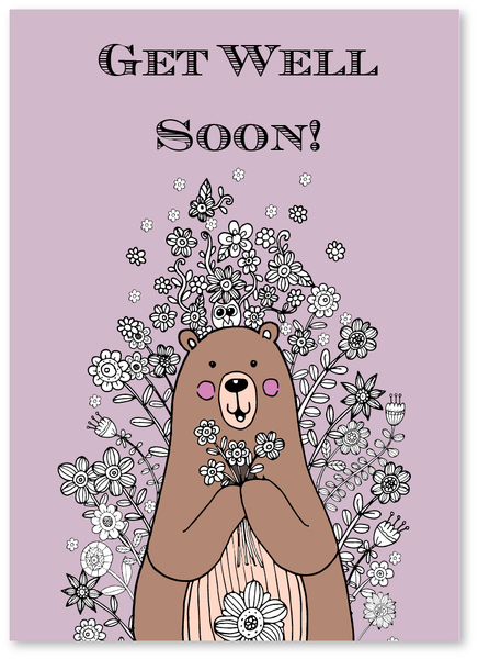 Bear Wishes Get Well Soon Card