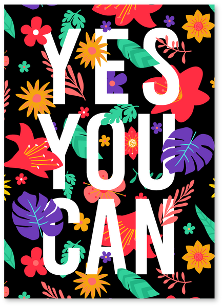 Yes You Can Encouragement Card