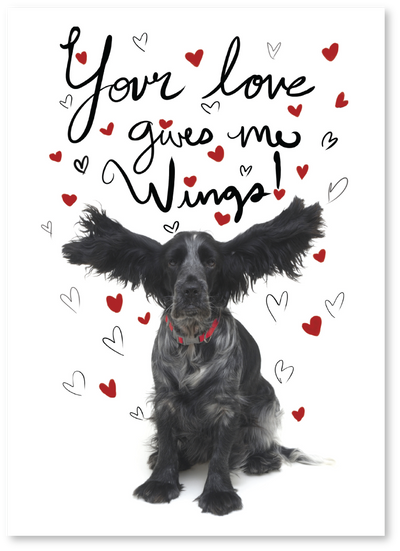 Puppy Wings Valentine's Day Card