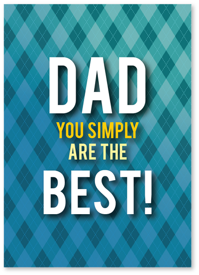 Simply the Best Father's Day Card