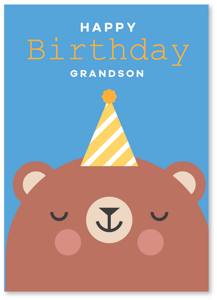 Grizzly Birthday Card