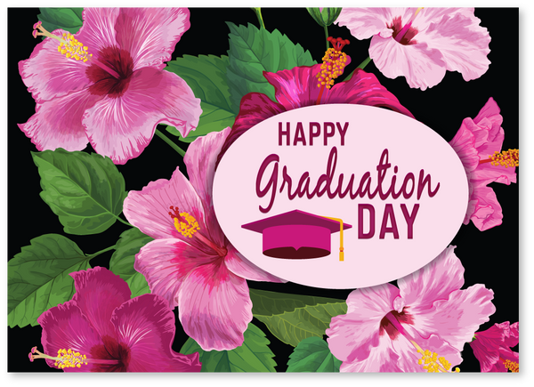 Hawaiian Flowers Graduation Card