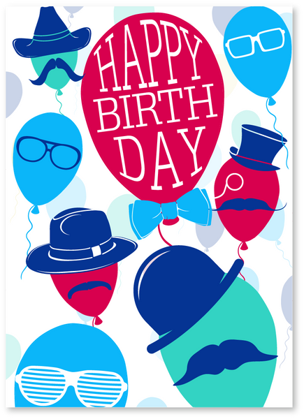 Hot Air Birthday Card