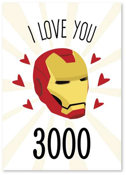 I Love You 3000 Love Card