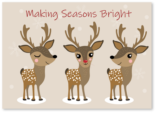 Rudolph Seasons Bright Christmas Card
