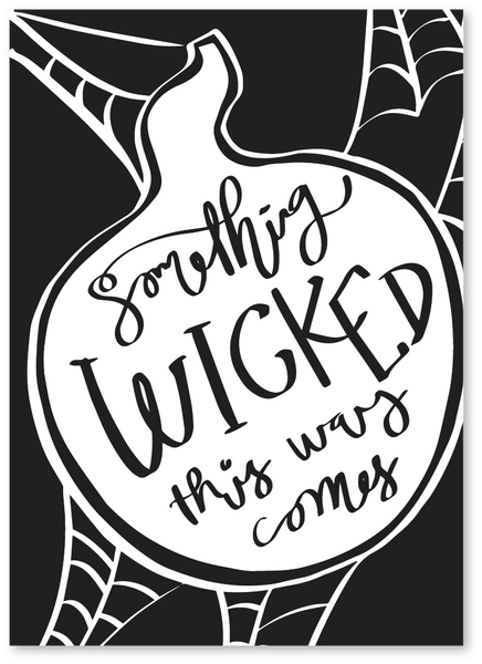 Wicked Spider Halloween Card