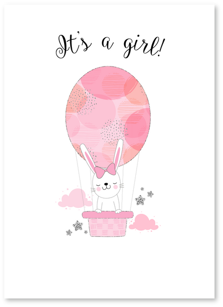 Baby Bunny Girl Card