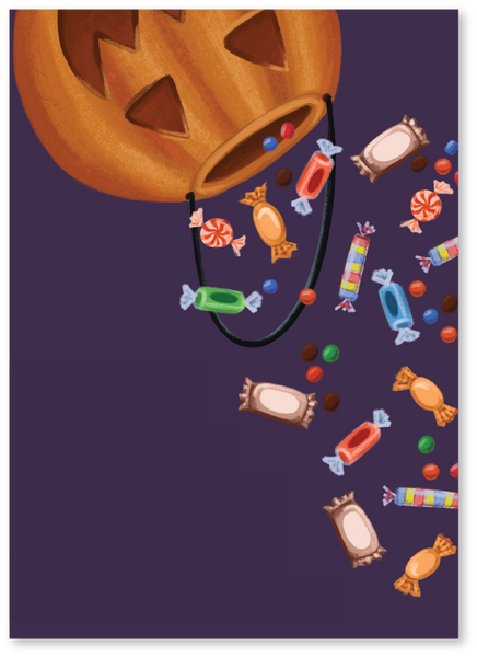 Trick-or-Treat Halloween Card