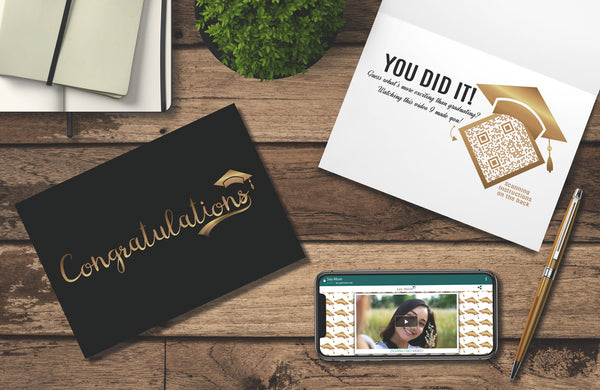 Golden Graduation Card