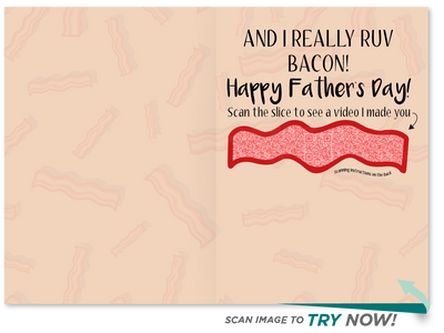 Dad vs Bacon Father's Day Card